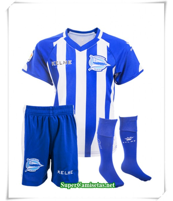 Primera Equipacion Camiseta Alaves Niños 2018/19
