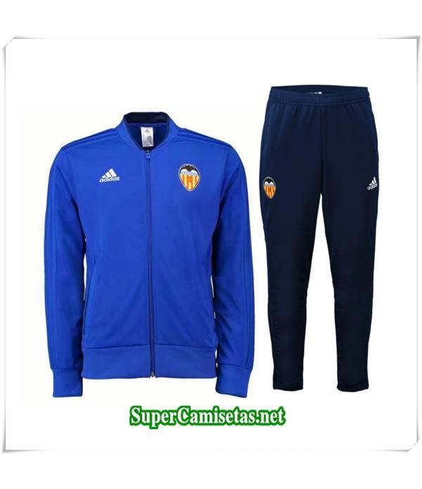 Chandal del Valencia Azul 2018/19 chaqueta y pantalón