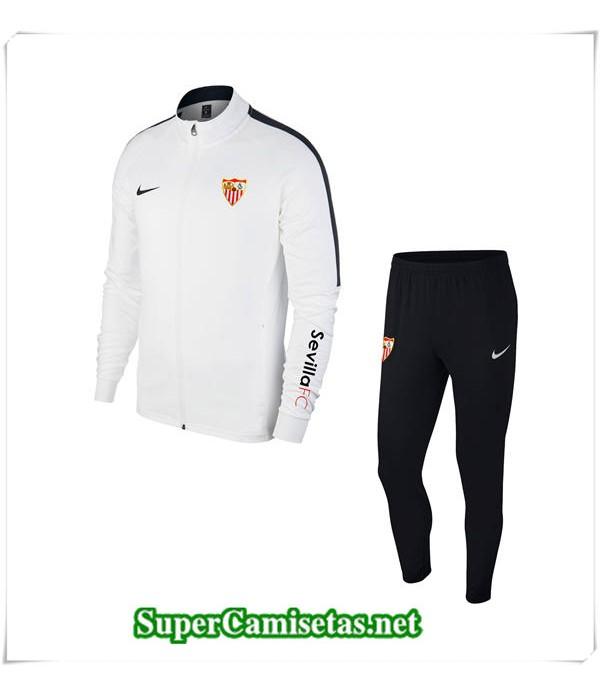 Tailandia Equipacion Chandal Futbol Sevilla Blanco 2018/19