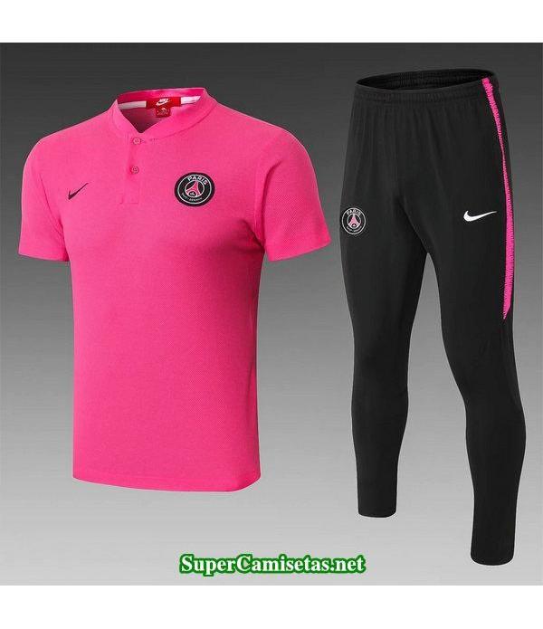 camiseta polo psg rosa 2019/20