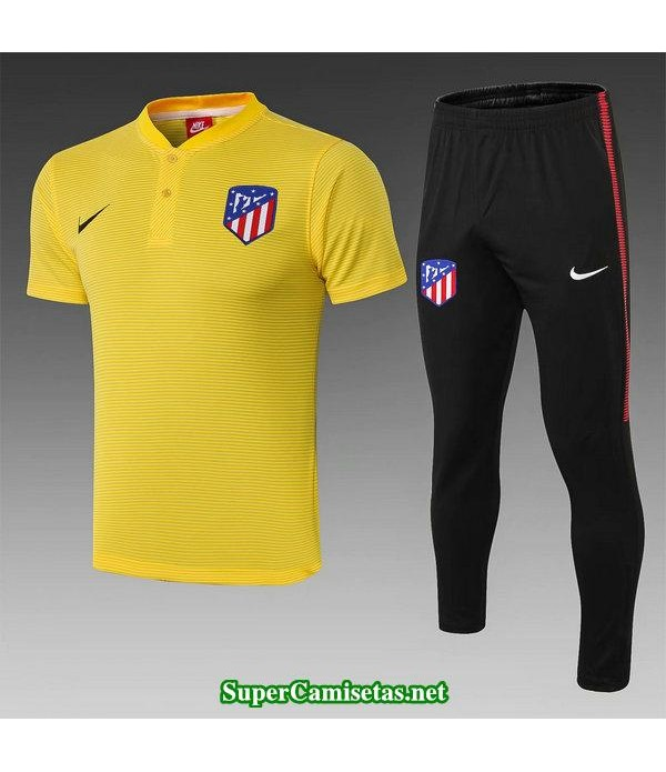 camiseta polo atletico de madrid amarillo 2019/20