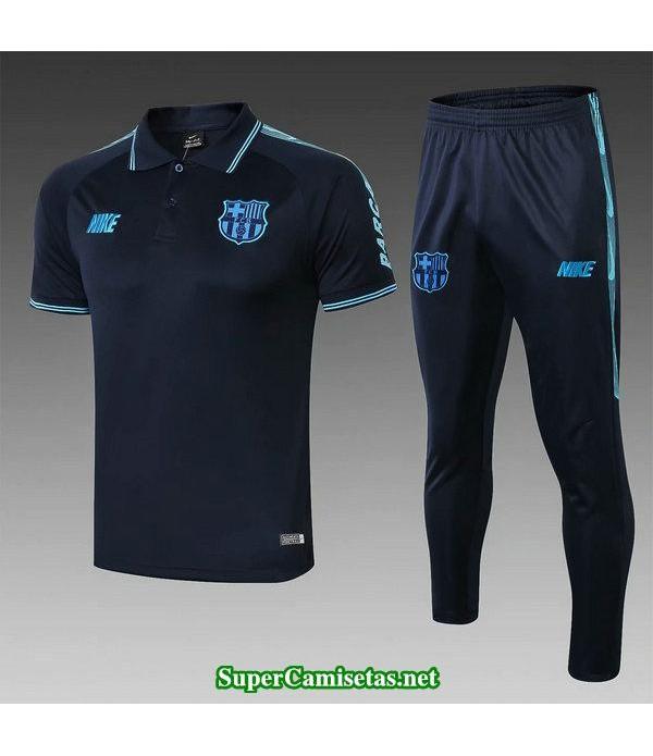 camiseta polo barcelona azul oscuro 2019/20