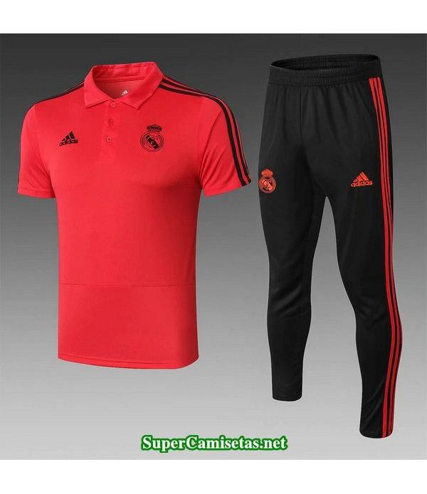 camiseta polo real madrid rojo 2019/20
