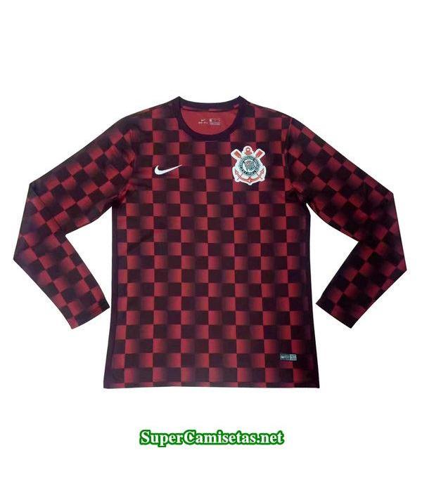 camiseta entrenamiento corinthians ml rojo 2019/20