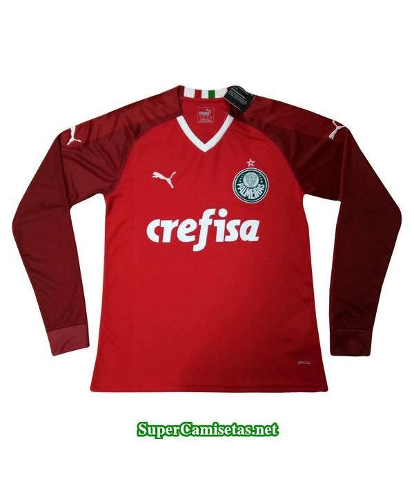 portero equipacion camiseta palmeiras manga larga rojo 2019/20
