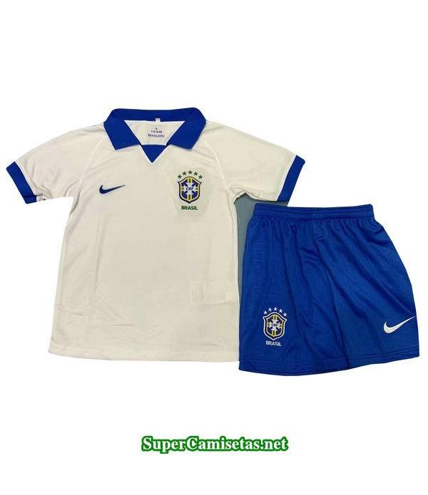segunda equipacion camiseta brasil ninos 2019/20
