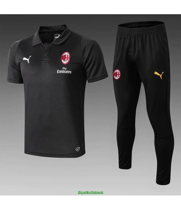 camiseta polo ac milan negro 2019/20