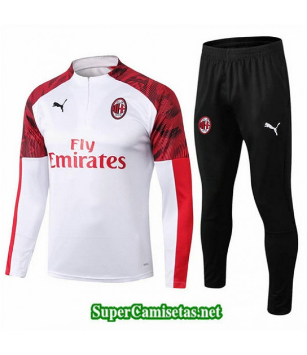 Chandal AC Milan Blanco Blanco sweat zippe 2019/20