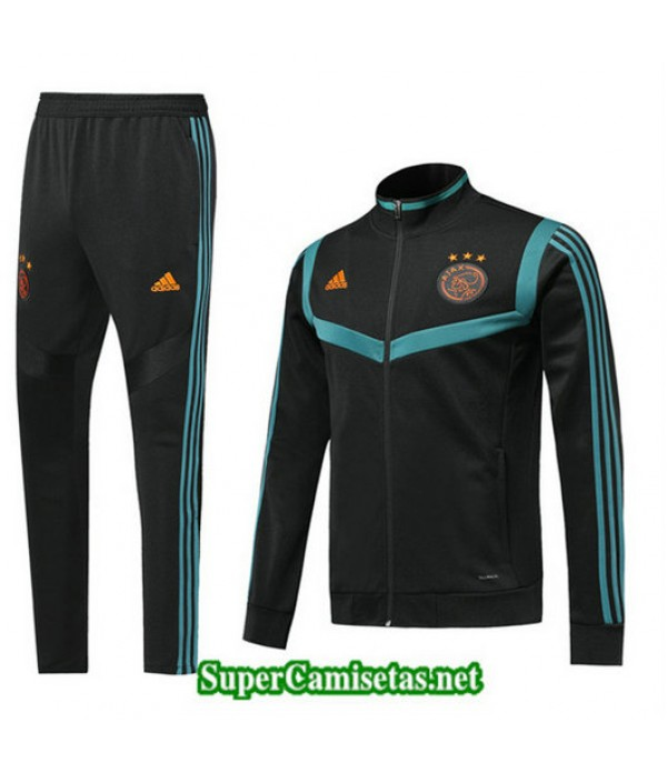 Chandal AFC Ajax Chaqueta Negro/Azul Negro/Azul 2019/20