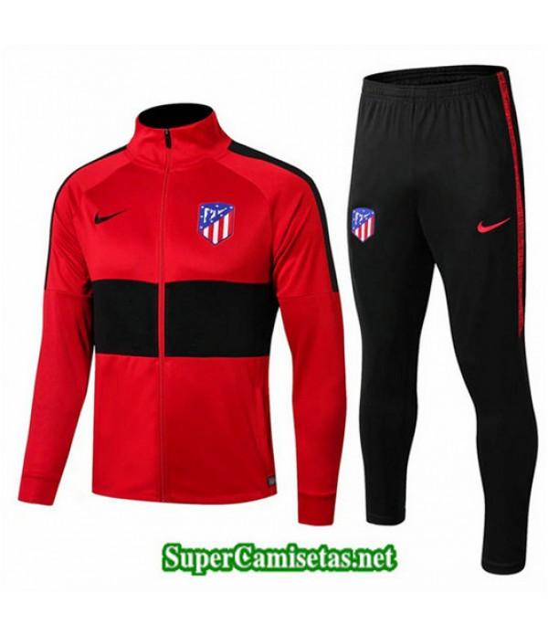 Chandal Atletico de Madrid Chaqueta Rojo/Negro Rojo/Negro Cuello alto 2019/20