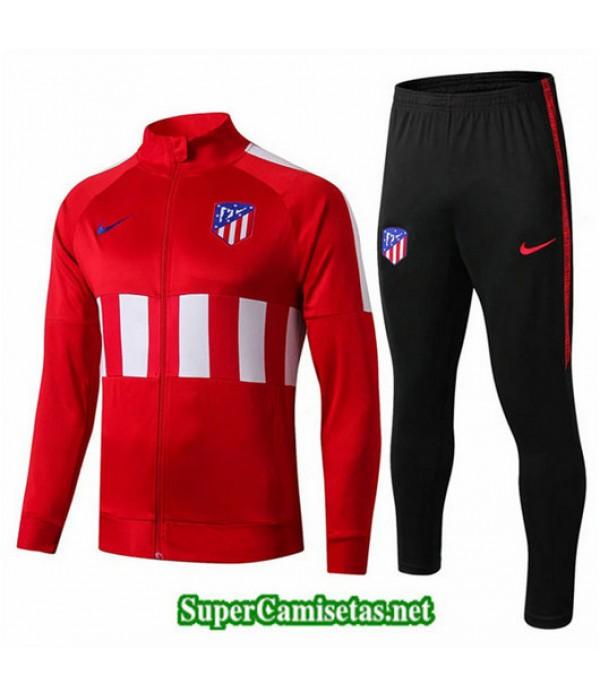 Chandal Atletico de Madrid Chaqueta Rojo Negro Rojo Negro Cuello redondo 2019/20