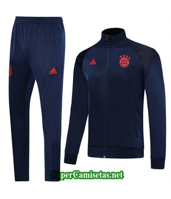 Chandal Bayern Munich Chaqueta Azul Oscuro/Rojo Azul Oscuro/Rojo Cuello alto 2019/20