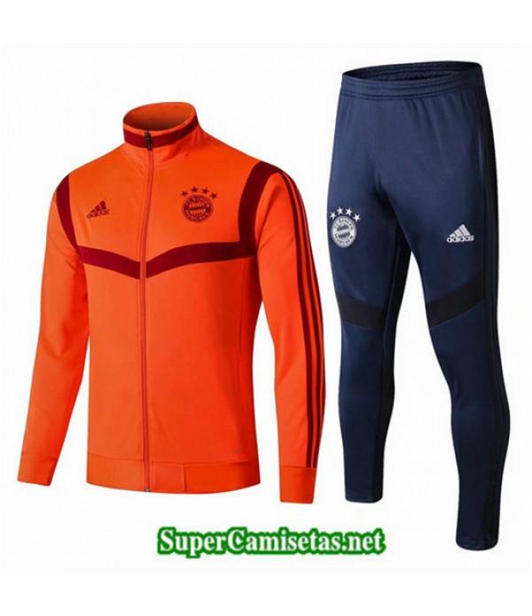 Chandal Bayern Munich Chaqueta Naranja + Pantalón Azul Naranja + Pantalón Azul 2019/20