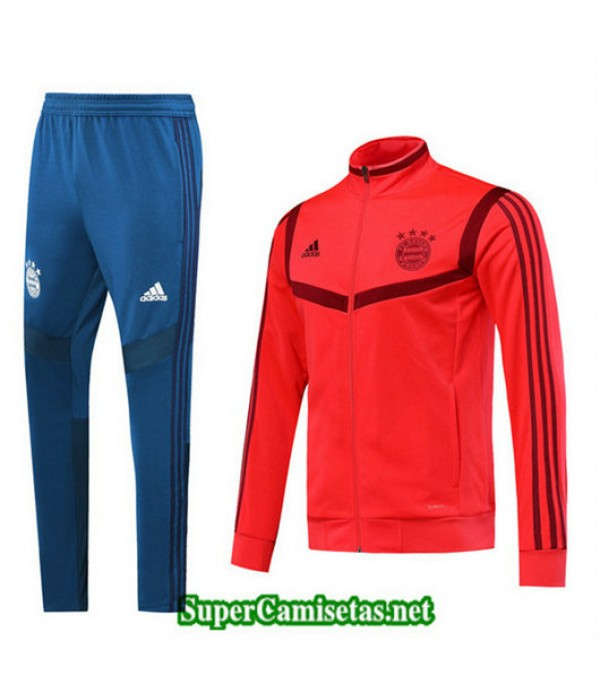 Chandal Bayern Munich Chaqueta Rojo + Pantalón Azul Rojo + Pantalón Azul 2019/20
