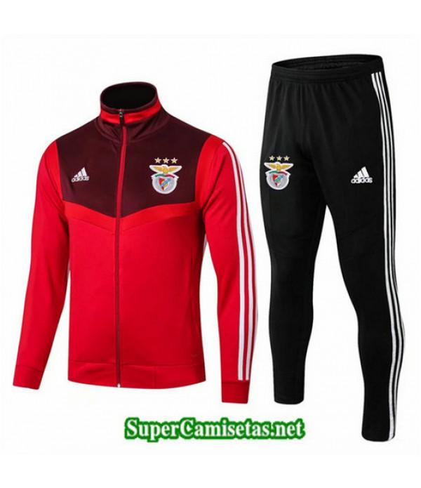 Chandal Benfica Chaqueta Rojo + Pantalón Negro Rojo + Pantalón Negro 2019/20