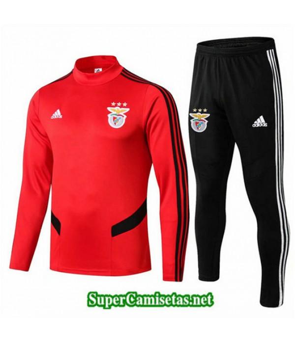 Chandal Benfica Rojo + Pantalón Negro Rojo + Pantalón Negro 2019/20