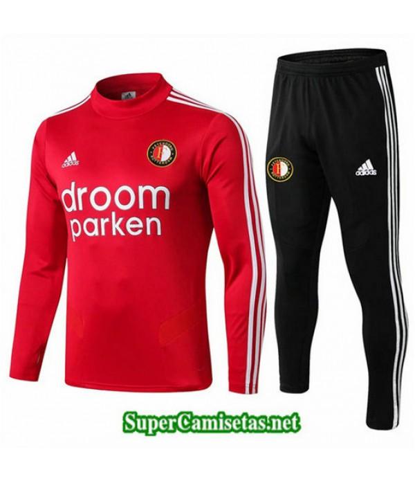Chandal Feyenoord Rojo + Pantalón Negro Rojo + Pantalón Negro 2019/20