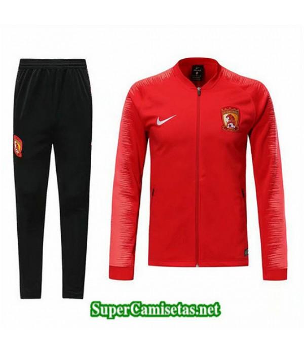 Chandal Guangzhou China Chaqueta Rojo Rojo 2019/20