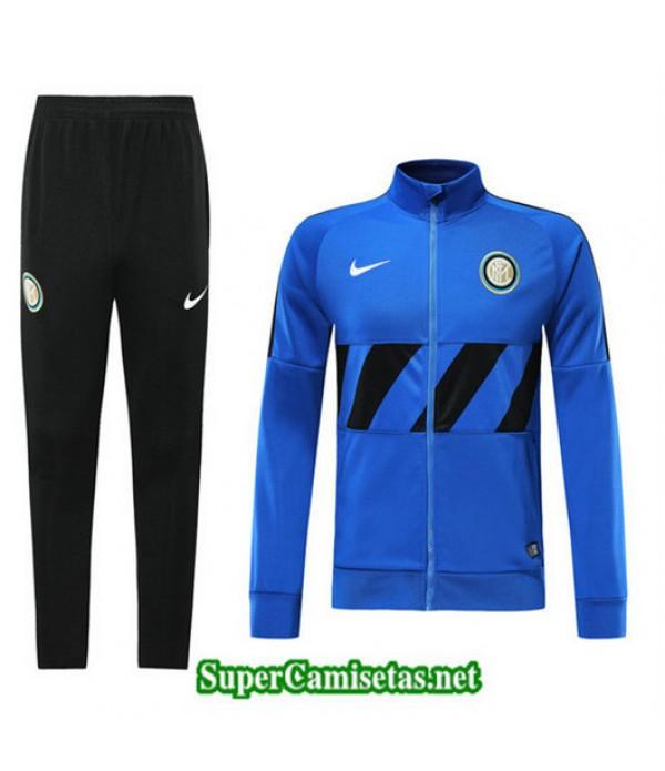 Chandal Inter Milan Chaqueta Azul + Pantalón Negro Azul + Pantalón Negro 2019/20