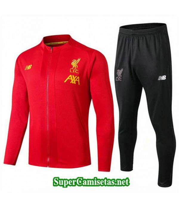 Chandal Liverpool Chaqueta Rojo + Pantalón Negro Rojo + Pantalón Negro 2019/20