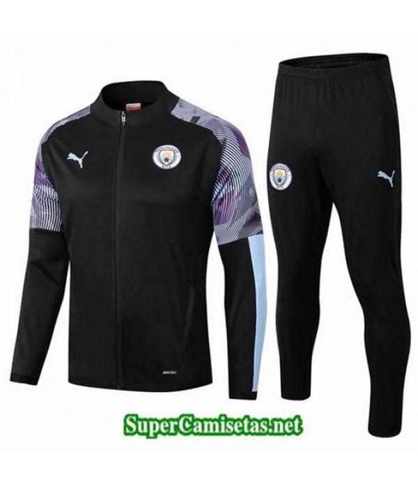 Chandal Manchester City Chaqueta Negro/Púrpura Negro/Púrpura 2019/20