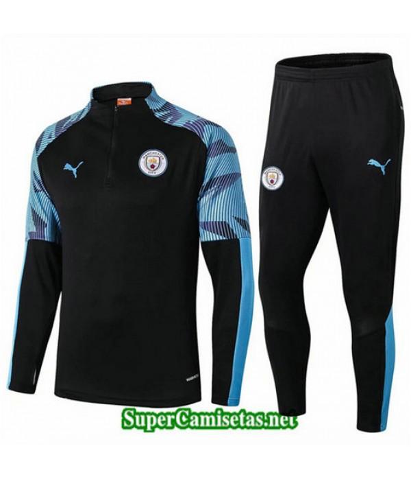 Chandal Manchester City Negro/Azul Negro/Azul 2019/20