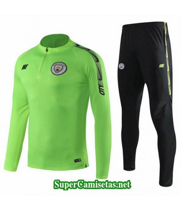 Chandal Manchester City Verde + Pantalón Negro Verde + Pantalón Negro 2019/20