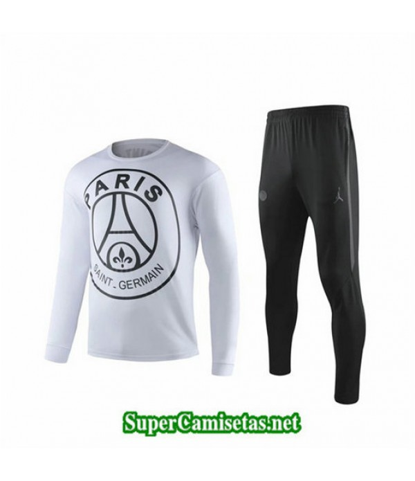 Chandal PSG Paris Blanco Blanco Cuello redondo 2019/20