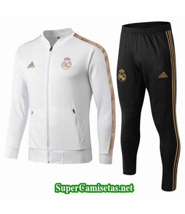 Chandal Real Madrid Chaqueta Blanco/Amarillo Blanco/Amarillo Cuello bajo 2019/20