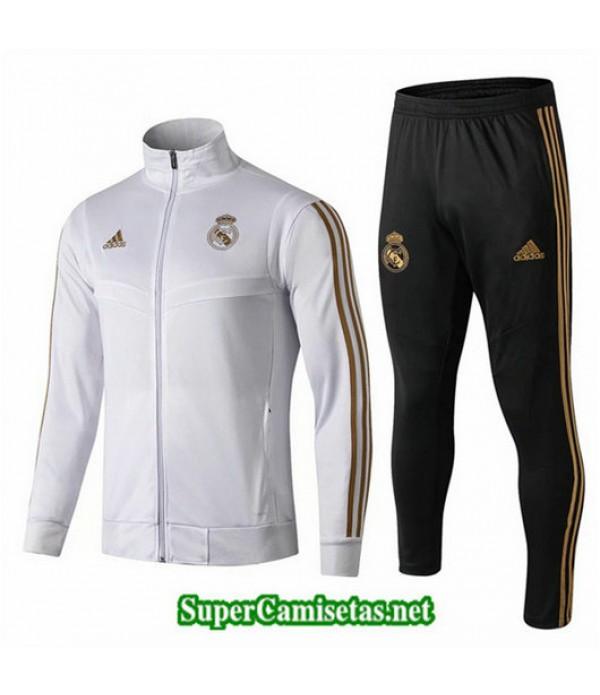 Chandal Real Madrid Chaqueta Blanco Blanco Cuello alto 2019/20