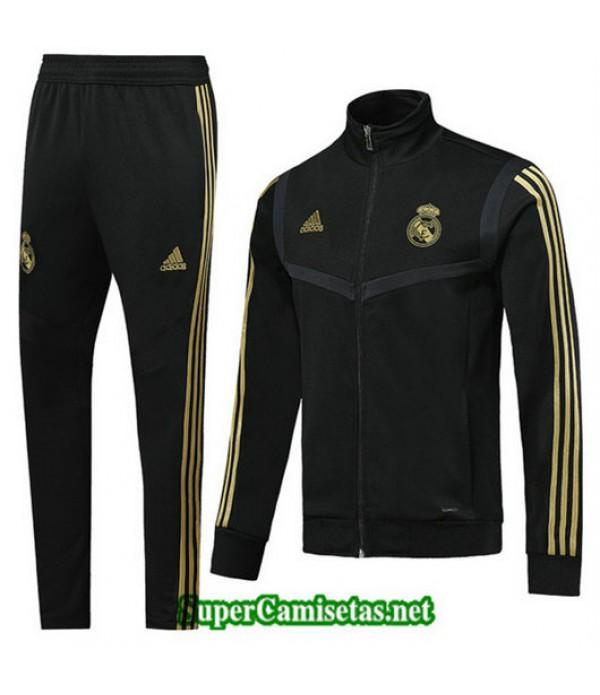 Chandal Real Madrid Chaqueta Negro Negro Cuello alto 2019/20