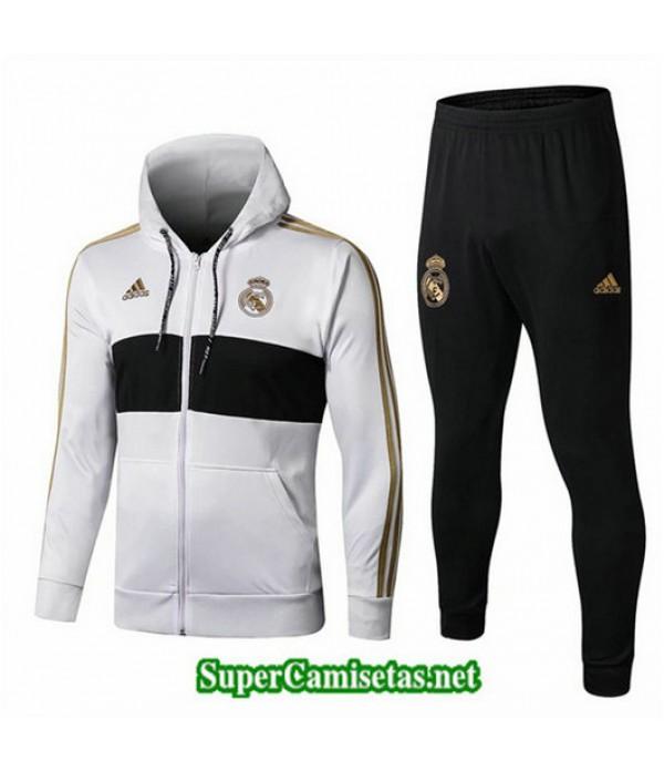 Chandal Real Madrid Chaqueta Sombrero Blanco/Negro Blanco/Negro 2019/20