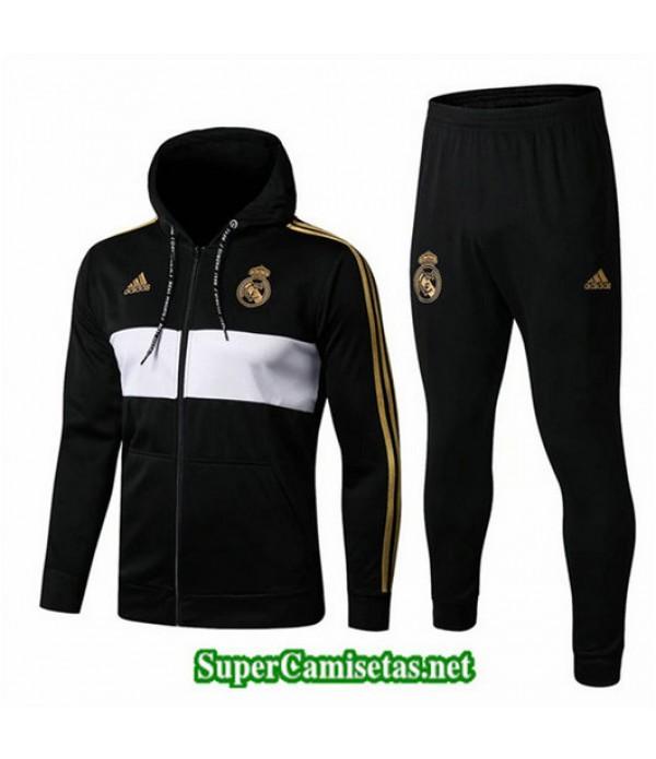 Chandal Real Madrid Chaqueta Sombrero Negro/Blanco Negro/Blanco 2019/20