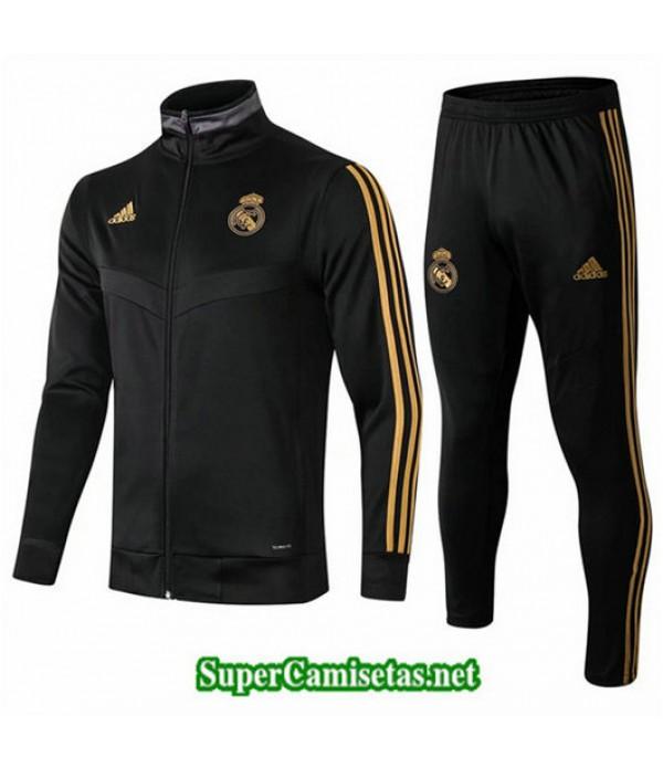 Chandal Real Madrid Cremallera Larga Chaqueta Negro Negro 2019/20