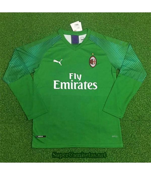 Equipacion Camiseta AC Milan Portero Manga Larga V...