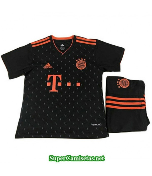 Equipacion Camiseta Bayern Munich Negro Ninos 2019/20
