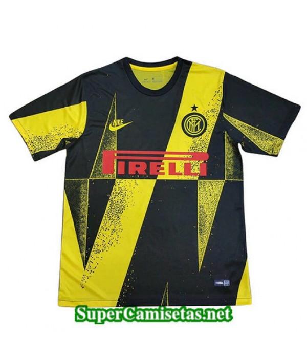 Equipacion Camiseta Inter Milan Edición Liga de Campeones Negro/Amarillo 2019/20