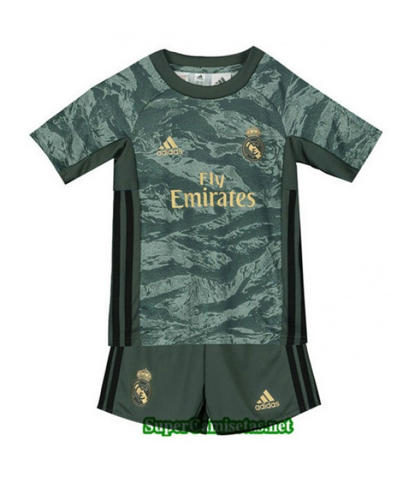 Equipacion Camiseta Real Madrid Ninos Gris/Verde 2...