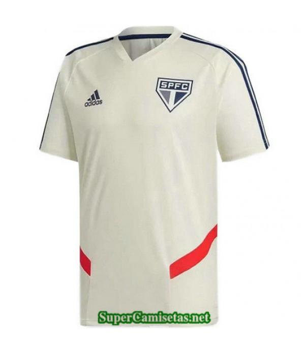 Equipacion Camiseta Sao Paulo Entrenamiento Blanco 2019/20