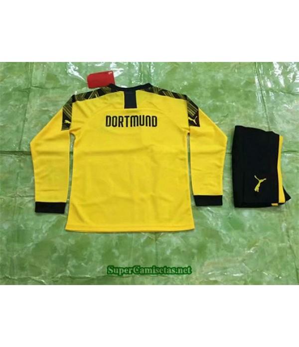 Primera Equipacion Camiseta Dortmund Ninos Manga Larga 2019/20