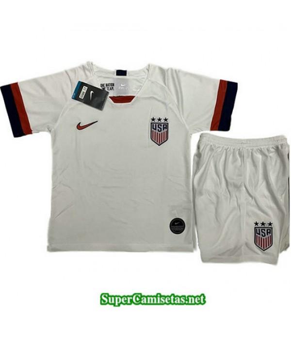 Primera Equipacion Camiseta EEUU Blanco Ninos 2019/20