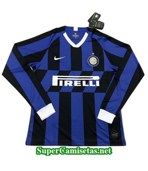 Primera Equipacion Camiseta Inter Milan Manga Larga 2019/20