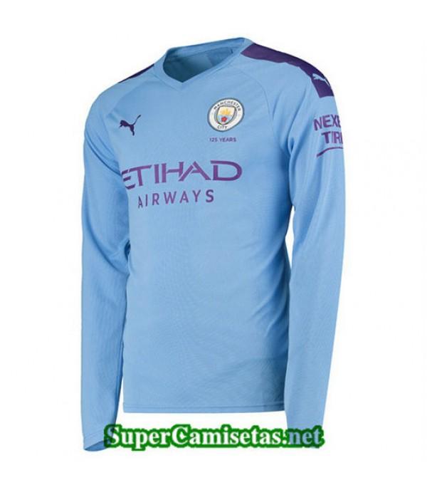 Primera Equipacion Camiseta Manchester City Manga Larga 2019/20