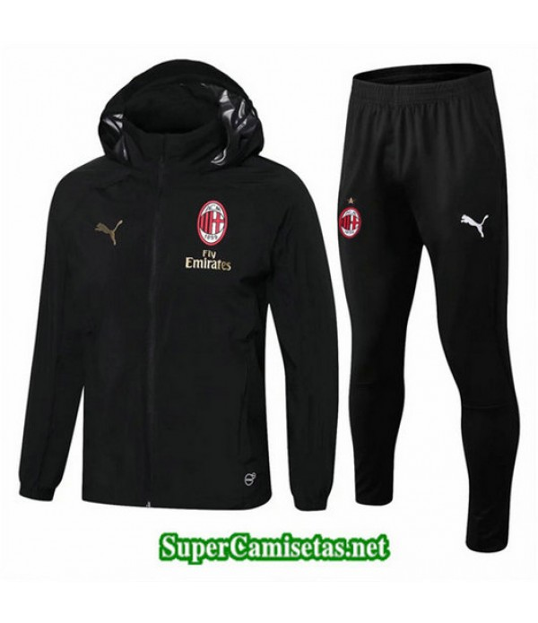 Rompevientos AC Milan Sombrero Negro Negro 2018/19