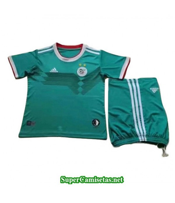 Segunda Equipacion Camiseta Argelia Ninos 2 Estrellas 2019/20
