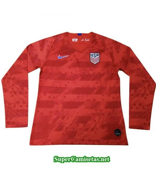 Segunda Equipacion Camiseta EEUU Long Rojo 2019/20