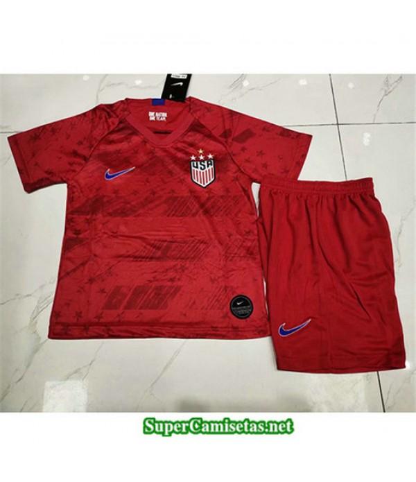 Segunda Equipacion Camiseta EEUU Ninos 4 Estrellas Rojo 2019/20