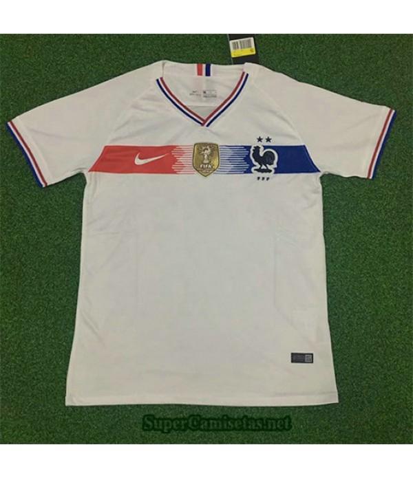 Segunda Equipacion Camiseta Francia 2 Estrellas Retro 2019/20