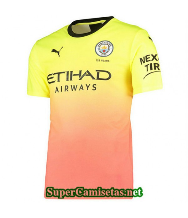 Segunda Equipacion Camiseta Manchester City Amarillo/Rosa 2019/20