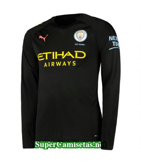 Segunda Equipacion Camiseta Manchester City Manga Larga 2019/20